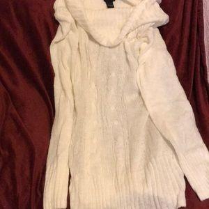 Torrid tunic length cowl neck sweater